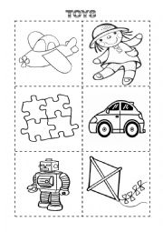 Toys Cut Color With Vocabulary And Letters Esl Worksheet By Cbenglish