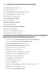 English Worksheet: Syntax Exercises:  phrasal verbs vs prepositional verbs  adjunct disjunct and conjunct