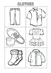 English worksheet: Clothes Vocabulary