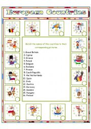 English Worksheet: European Countries (2)