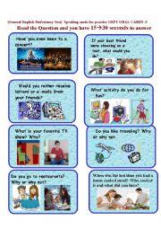 English Worksheet: GEPT ORAL CARDS-5