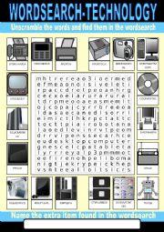 Technology Wordsearch