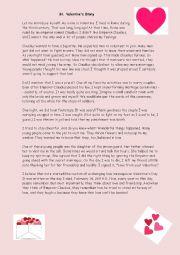 English Worksheet: The story of Saint Valentine