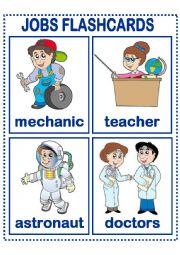 English Worksheet: JOBS FLASHCARDS