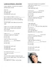 English Worksheet: Locked out of heaven - Bruno Mars
