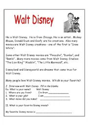 English worksheet: SIX EASY BIOGRAPHIES FOR BEGINNINERS