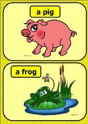 English Worksheet: Farm animals flashcards PRAT 1