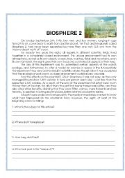 English worksheets: Biosphere 2