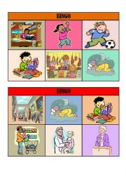 VERB TENSES BINGO CARDS/ playing cards 5/5