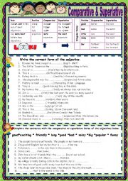 English Worksheet: Comparative & Superlative