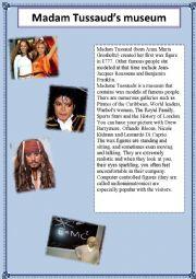 English Worksheet: Madam Tussaud�s Museum
