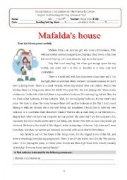 English Worksheet: Mafalda´s house