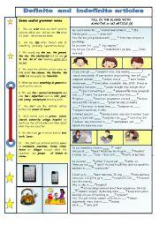 English Worksheet: Definite and Indefinite articles