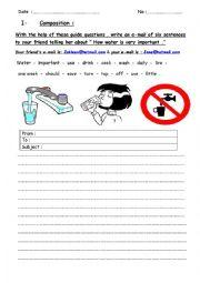 English Worksheet: composition