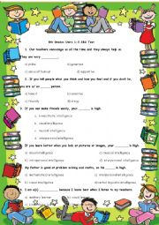 English Worksheet: 8th Grade Spot On SBS Test Units 1-5