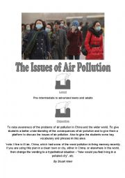 English Worksheet: Air Pollution in China
