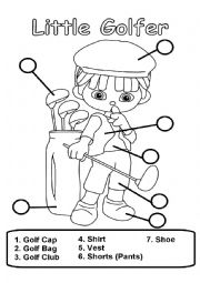 English Worksheet: Little Golfer