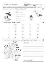 English Worksheet: Happy Street 2 - test (unit 1, 2, 3)