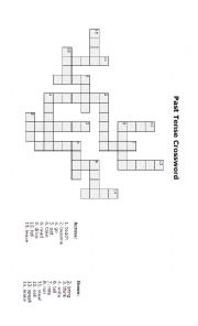 Past tense crossword