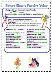 future simple passive exercises pdf