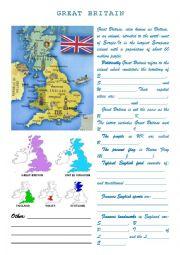 English Worksheet: Great Britain