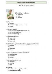 English Worksheet: Jamie Oliver Goes to School
