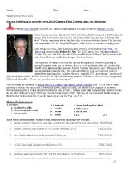 English Worksheet: Steven Spielberg