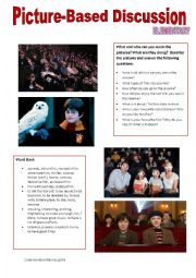 English Worksheet: Picture-based discussion Elementary - (18) - Entertainment 1. - Cinema