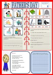 English Worksheet: Father´s Day
