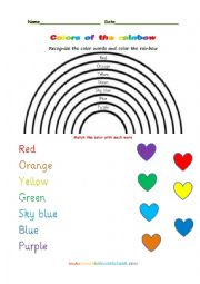 English Worksheet: Colors of the rainbow