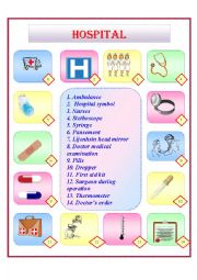 English Worksheet: HOSPITAL