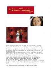 English Worksheet: MADAME TUSSAUDS MUSEUM