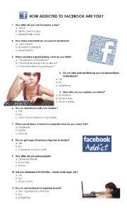 English Worksheet: Facebook Quiz