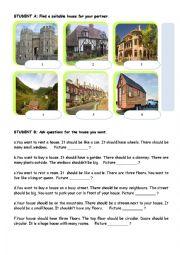 English Worksheet: TYPES OF HOUSES-PAIR WORK