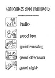 Greetings and farewells worksheets english worksheet greetings and farewells m4hsunfo