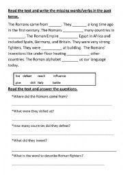 English Worksheet: Romans