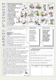 English Worksheet: household chores