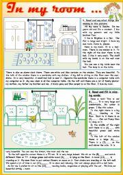 English Worksheet: In my room...