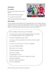 english worksheets big bang theory season 3 episode 17. Black Bedroom Furniture Sets. Home Design Ideas