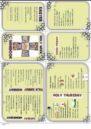 english worksheets holy week minibook. Black Bedroom Furniture Sets. Home Design Ideas