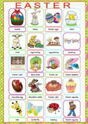 English Worksheet: Easter Picture Dictionary