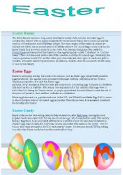 English Worksheet: The Easter bunny , Easter eggs and their origins in history