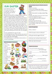 English Worksheet: Our Easter