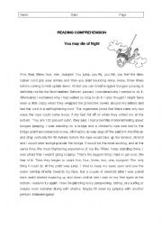 English Worksheet: You may die of fright