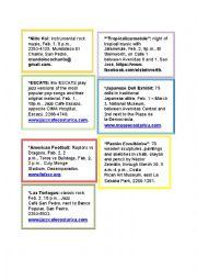 English Worksheet: Invitations cards