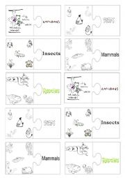English Worksheet: Vocabulary jigsaw