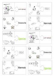 English Worksheet: Vocabulary jigsaw