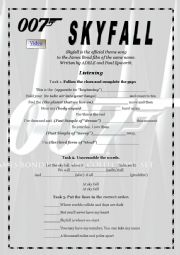 English Worksheet: Skyfall  by Adele