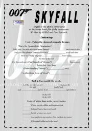 English Worksheet: Skyfall  by Adele
