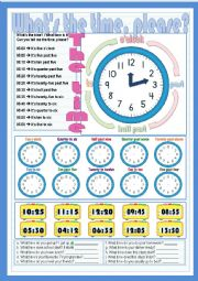 English Worksheet: What�s the time, please?